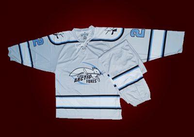 custom arctic foxes hockey jerseys front